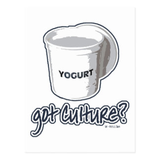 ¿Cultura conseguida? Yogur Tarjetas Postales