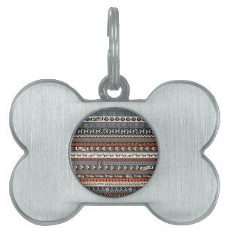 Cultura cruzada - modelo multicultural placas mascota