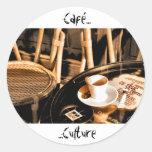 Cultura de Café Etiqueta Redonda