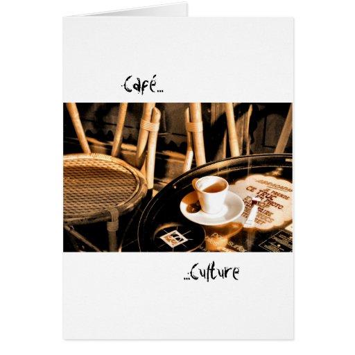 Cultura de Café Felicitación