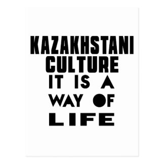 CULTURA DE KAZAKHSTANI ES UNA MANERA DE VIDA TARJETA POSTAL