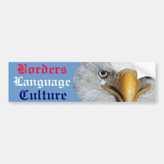 Cultura de la lengua de las fronteras pegatina de parachoque