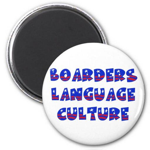 Cultura de la lengua de los huéspedes imán para frigorífico