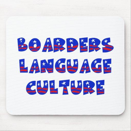 Cultura de la lengua de los huéspedes tapete de ratón