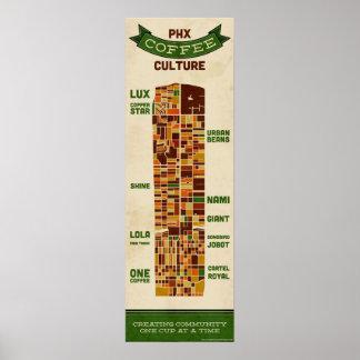 Cultura del café de Phoenix - grande Póster