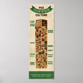 Cultura del café de Phoenix - pequeña Póster