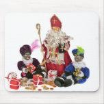 Cultura holandesa tradicional: Papá Noel y pi negr Alfombrillas De Raton
