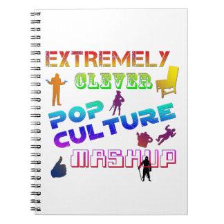 Cultura Pop extremadamente listo Mashup Note Book