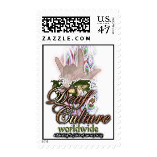 Cultura sorda por todo el mundo sello postal