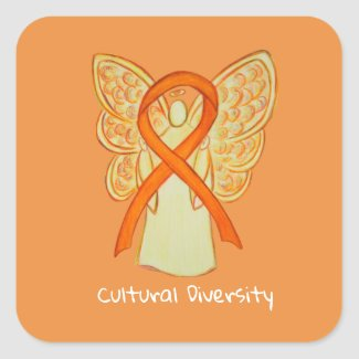 Cultural Diversity Awareness Angel Decal Stickers
