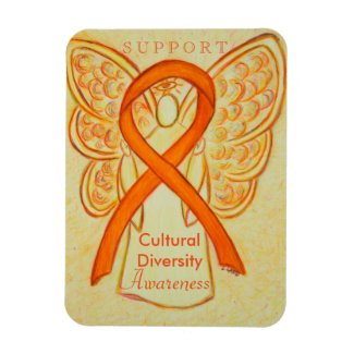 Cultural Diversity Awareness Ribbon Angel Magnet