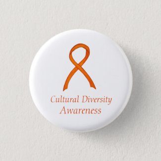 Cultural Diversity Awareness Ribbon Custom Pin