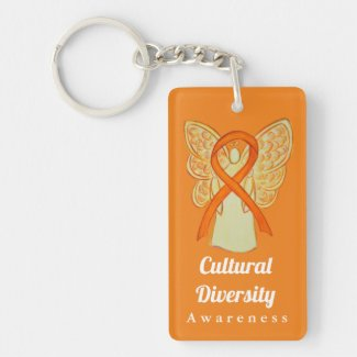 Cultural Diversity Awareness Ribbon Keychain
