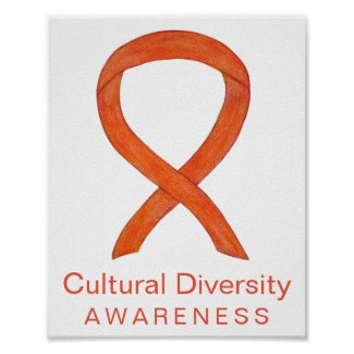 Cultural Diversity Awareness Ribbon Print Poster