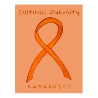 Cultural Diversity Orange Awareness Art Postcard