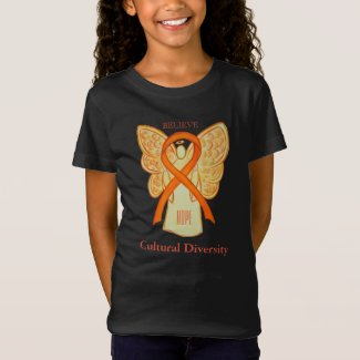 Cultural Diversity Orange Awareness Ribbon Shirt