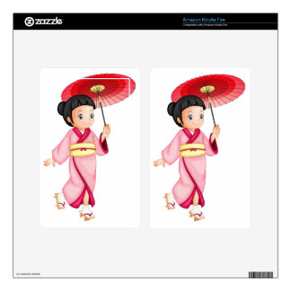 Cultural kid decal for kindle fire