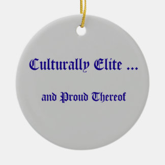 Cultural ornamento de la élite ornamento de navidad