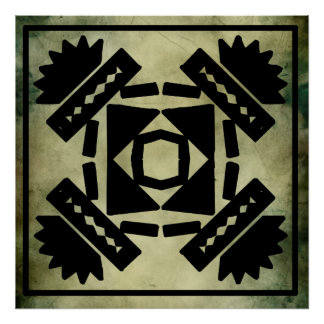 Cultural sacred symbols poster