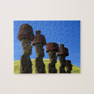 Cultural statues, Easter Island, Polynesia Jigsaw Puzzle