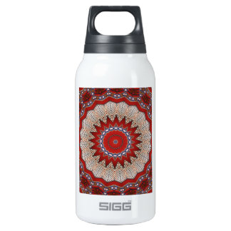 Cultural, Tribal, Indian, Colorful Vintage Print Insulated Water Bottle