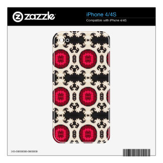 Cultural, Tribal, Indian, Colorful Vintage Print iPhone 4 Decal
