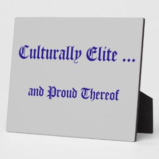 Culturally Elite Plaque
