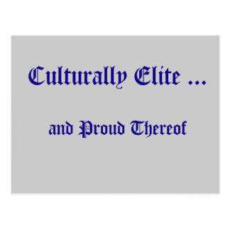 Culturally Elite Postcard