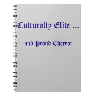 Culturally Elite Spiral Notebook