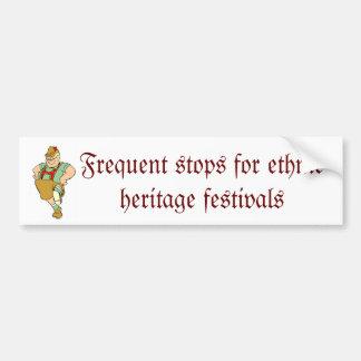 Culture and humor bumper sticker