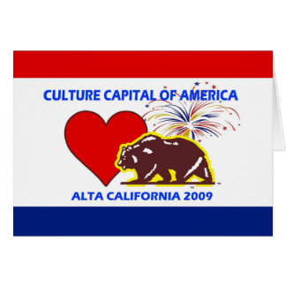 Culture Capital of America 2009 Alta California Card