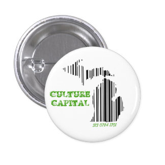 Culture capital pinback button