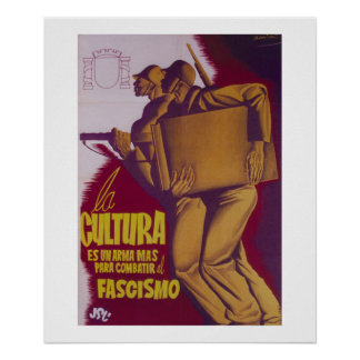 Culture is a weapon to fight_Propaganda Poster