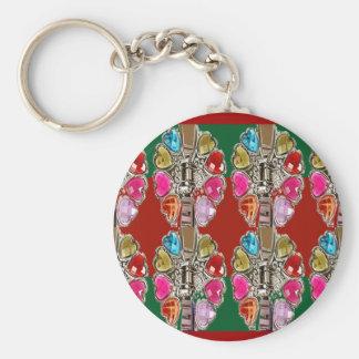CULTURE Theme Wedding Jewel Colorful USA NewJersey Keychain