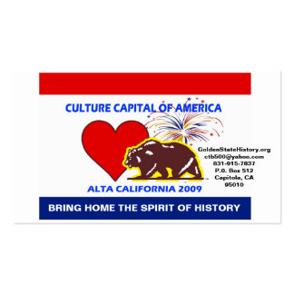 CultureCapital-Print, GoldenStateH... - Customized Double-Sided Standard Business Cards (Pack Of 100)