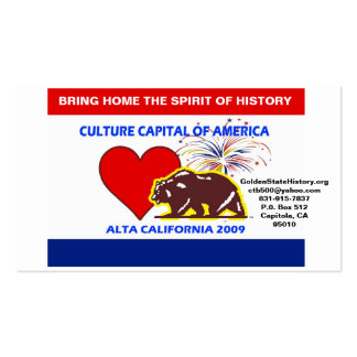 CultureCapital-Print, GoldenStateHistory.org   ... Double-Sided Standard Business Cards (Pack Of 100)