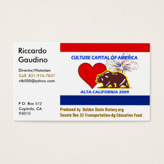 CultureCapital-Print, Riccardo Gau... - Customized Business Card
