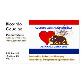 CultureCapital-Print, Riccardo Gau... - Customized Double-Sided Standard Business Cards (Pack Of 100)