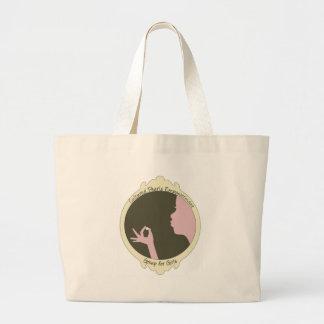 Cultured Pearls Logo Item Tote Bags