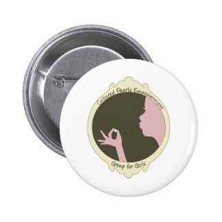 Cultured Pearls Logo Item Pinback Buttons