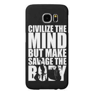 """""""Culturismo"""" de motivación Fundas Samsung Galaxy S6"""
