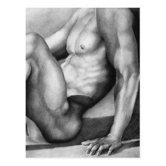 """Culturista de la bella arte creado por """"RjF'. xx Postal"""