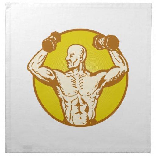 culturista humano de sexo masculino de la anatomía servilletas de papel