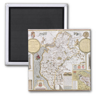 Cumberland and the Ancient City of Carlile 2 Inch Square Magnet