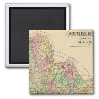 Cumberland Co, Maine 2 Inch Square Magnet