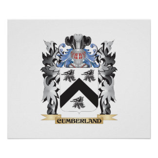Cumberland Coat of Arms - Family Crest Poster