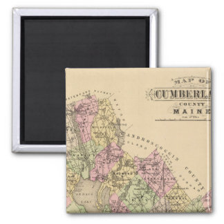 Cumberland County, Maine 2 Inch Square Magnet