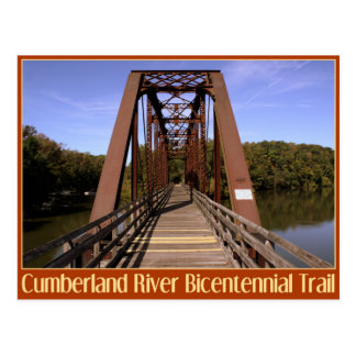 Cumberland River Bicentennial Trail Bridge Postcard