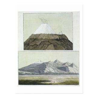 Cumbre de Cotopaxi (top), y la erupción de Coto Tarjetas Postales