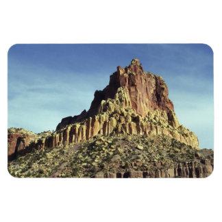 Cumbre de la montaña de la roca iman rectangular